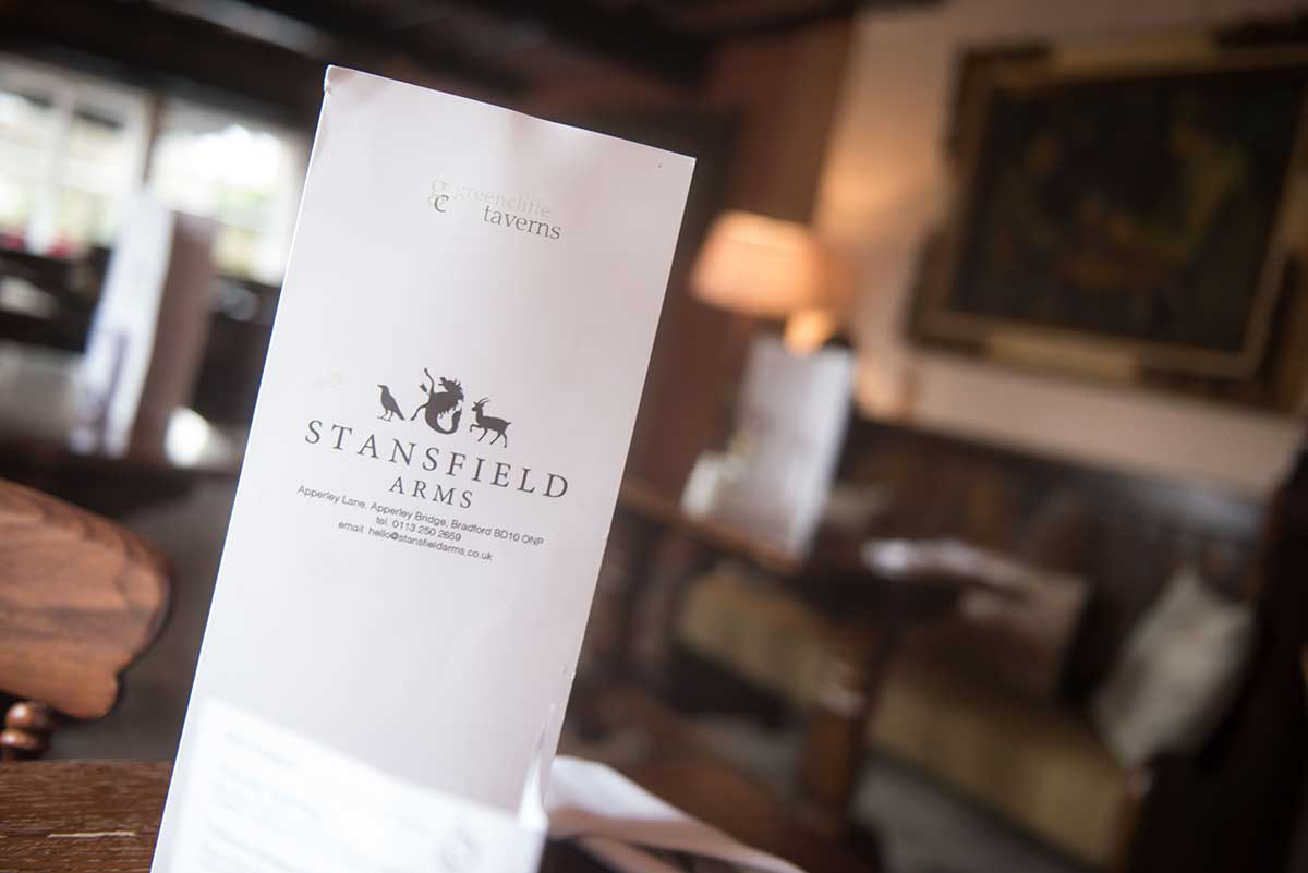 The Stansfield Arms Menu